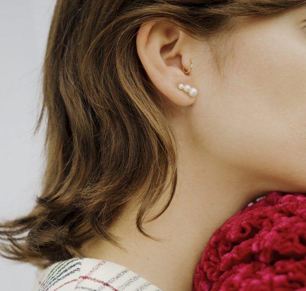 TRIPLE DROP STUD EARRINGS